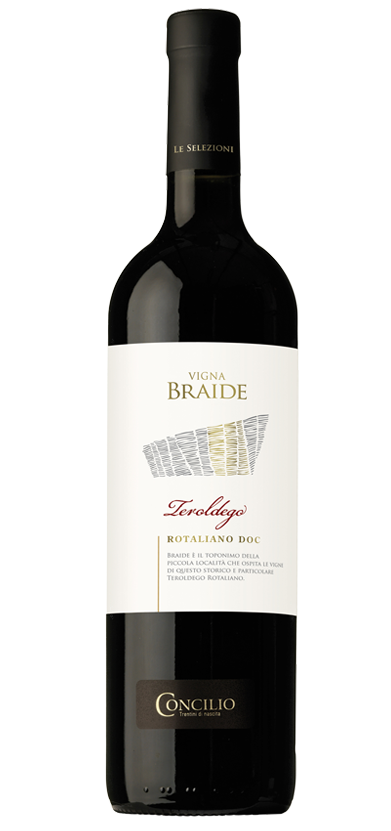 Braide is the name of the small town that is home to the vineyards of this historic and special Teroldego Rotaliano&nbsp;<br />